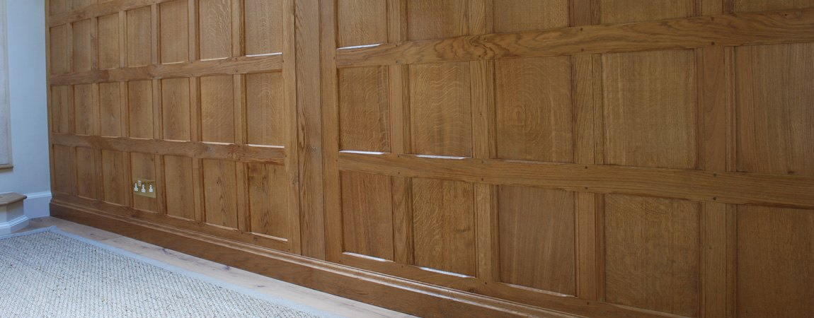 Solid Oak Panelling with a Light Oak Coloured Finish