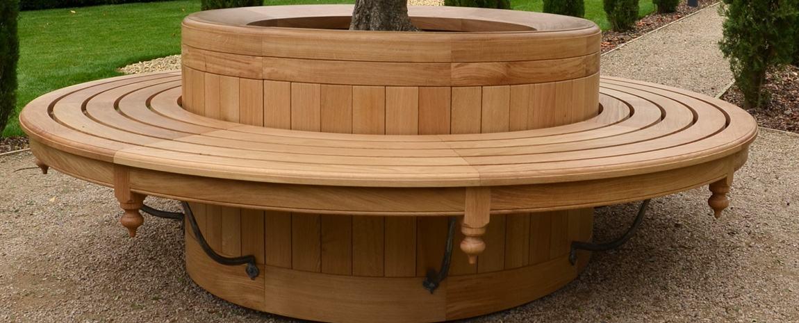 Oak Garden Tree Seat