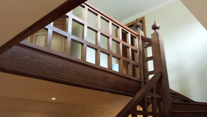 New Oak Staircase and Gallery to match existing Arts and Crafts Stairs