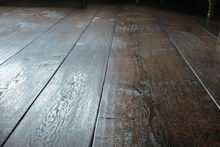 Wide and Long Character Grade distressed Oak Flooring