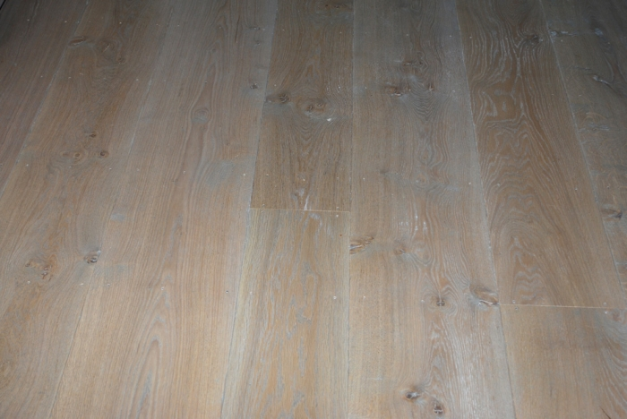 Solid Oak Random Width Flooring using Character Oak the Floor Boards have been Aged and Finished with a Light Oak Grey Stain