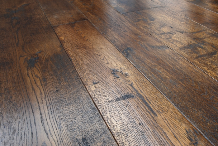 Engineered Oak Flooring, Character Oak Boards Distressed and Coloured