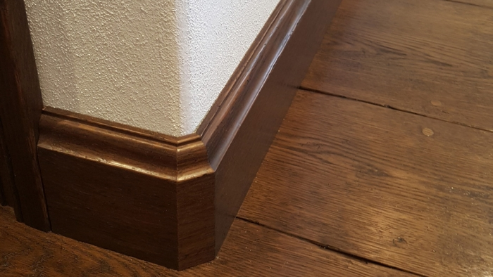 Solid Oak Flooring with Oak Skirting