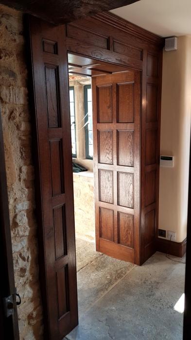Solid Oak Panelled Door Reveal