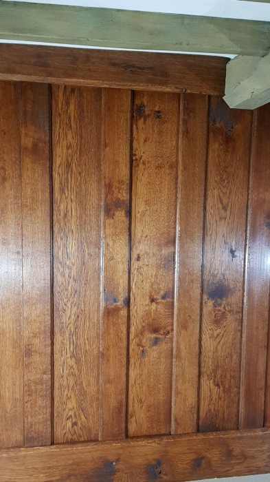 Plank and Muntin solid oak Wall Panelling