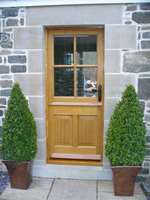 Oak Stable Door with Bevel Edged Glazed Top