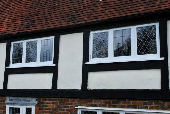 Bespoke Slim Double Glazed Windows with Lead Lights