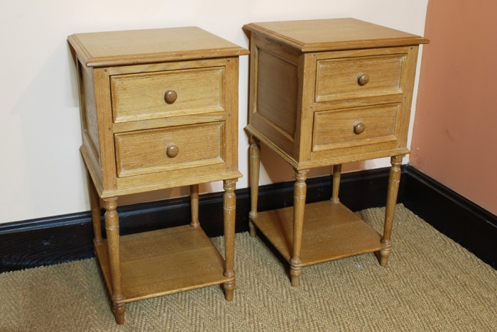 A pair of Oak Bedside Tables