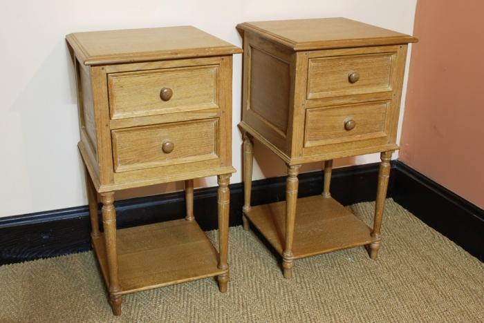 A pair of Oak Bedside Tables