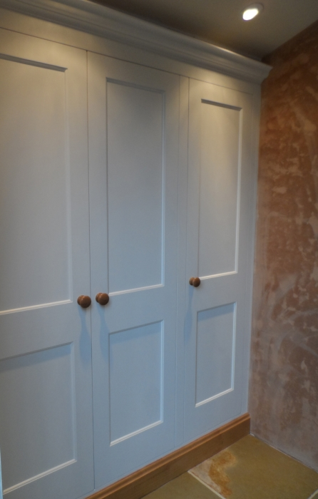 Built-in Painted Hardwood Storage Cupboard