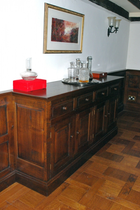 Oak Panelling with built in Dresser