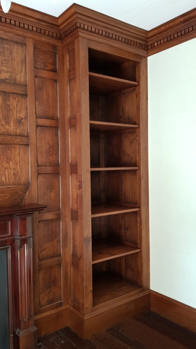 Fitted Storage Cupboard with Adjustable Shelving,Part of a Panelled Room