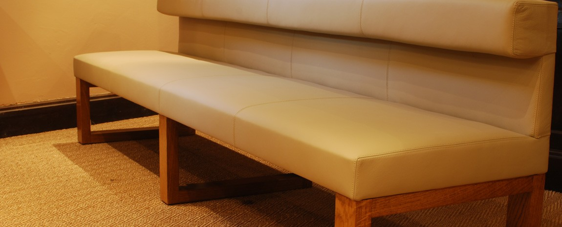 Leather Upholstered Bench