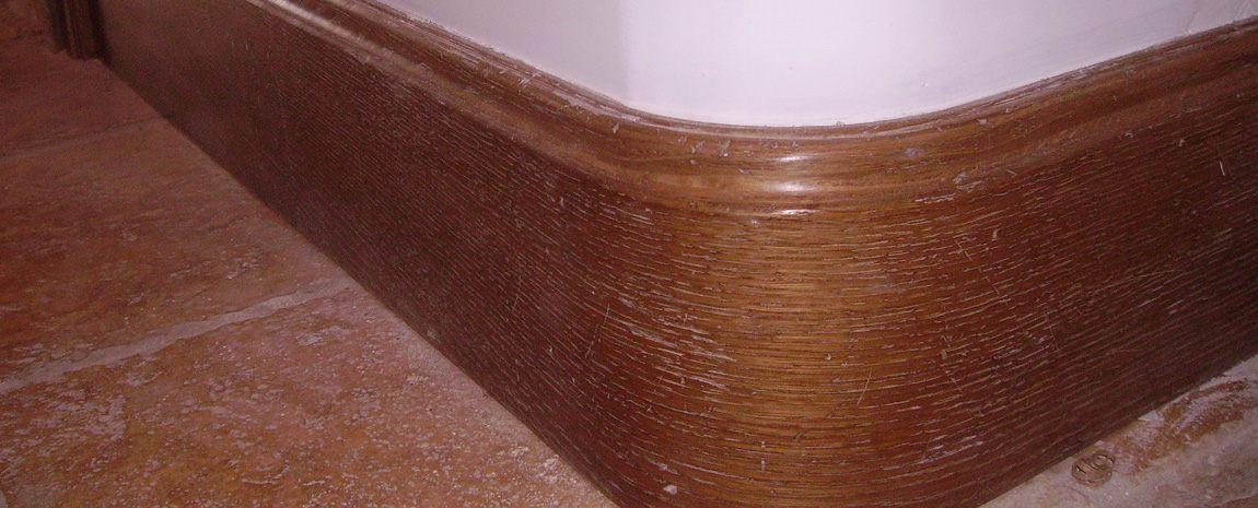 Curved Oak Skirting