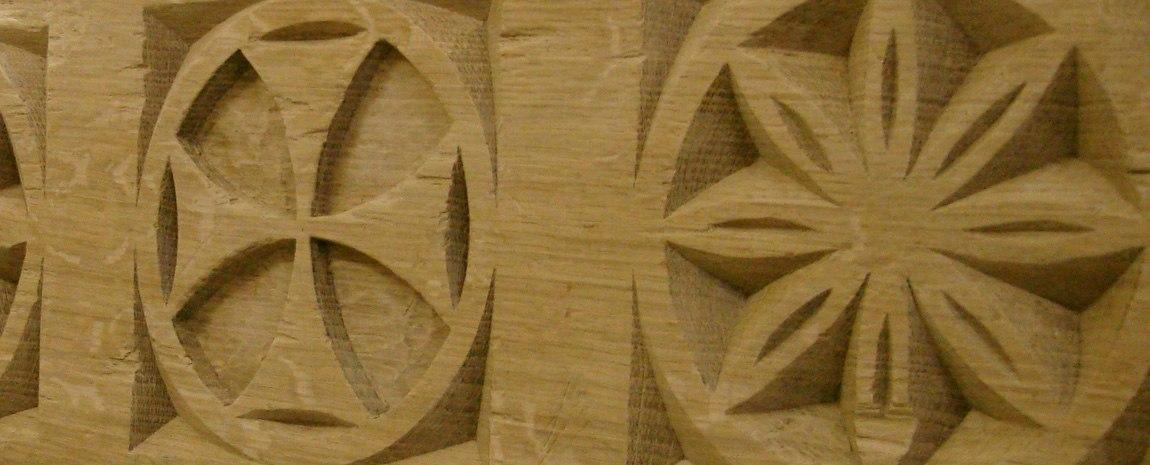 Hand Carved Oak Post