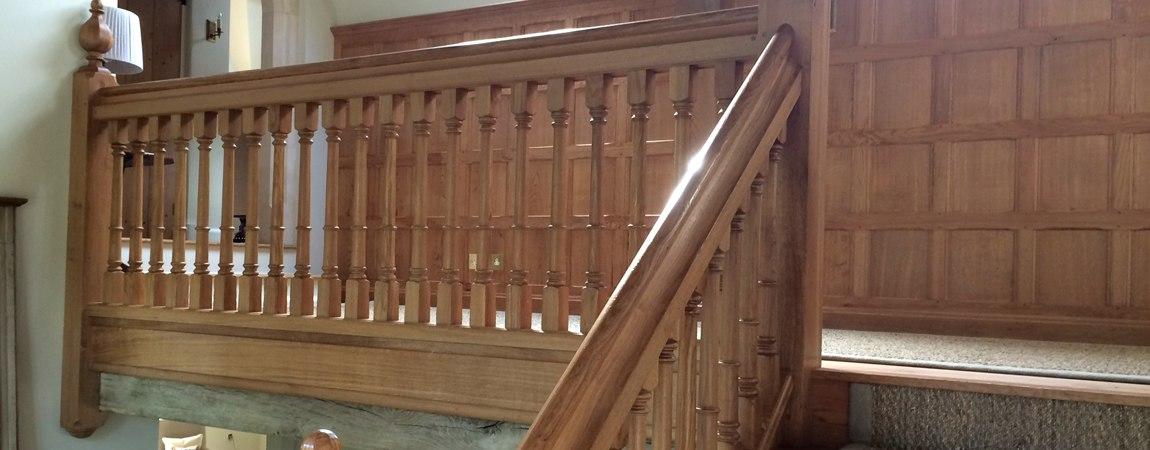 Oak Gallery with Oak Panelling behind