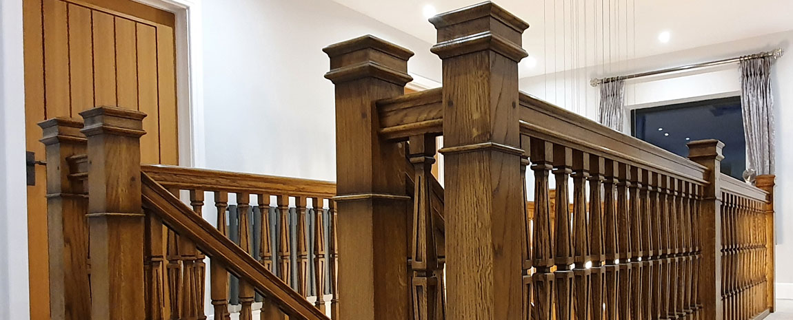 Newel post and gallery