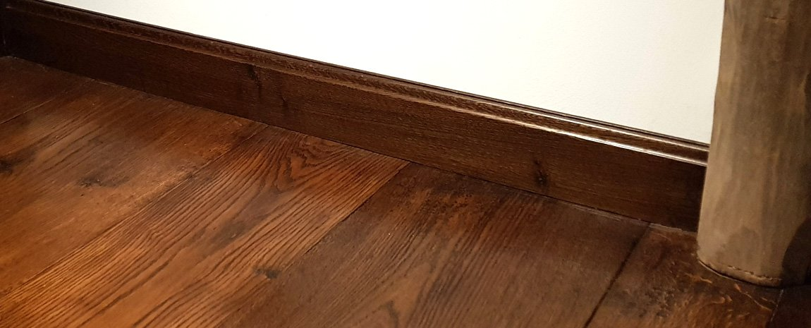 Wide Boarded Solid Oak Flooring and Solid Oak Skirting