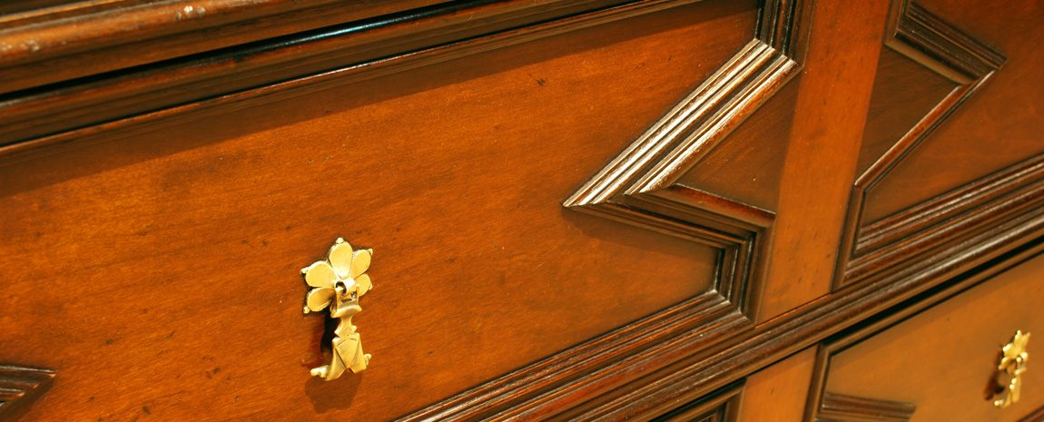 Cherry and Walnut Chest of Drawers