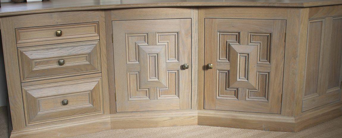 Oak Desk Cupboards