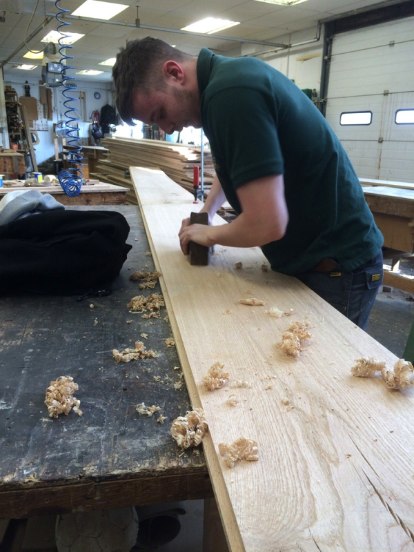Hand Planing the Boards prior to Distressing