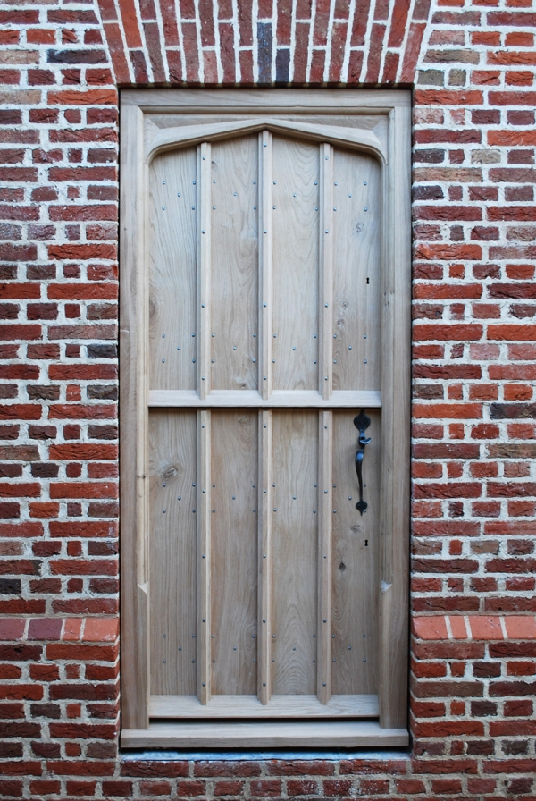 Boarded Oak Stable Door with Hand Carved Frame