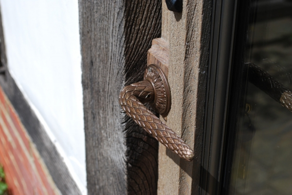 The Outside Dragon Handle and Vale Bronze Casement
