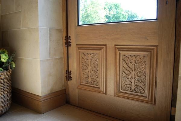 Hand Carved Oak Panels