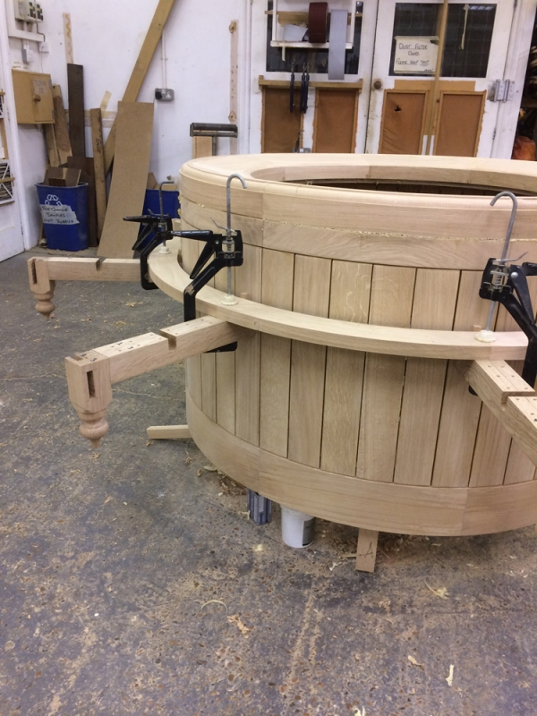Fitting the Oak Seat Slats