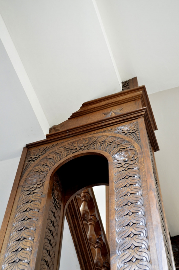 Some of the scribing detail of the Oak Staircase