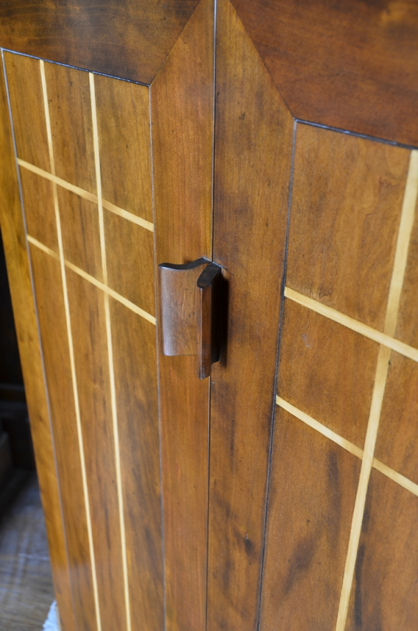 Cherry wood Doors with mitred joints and Boxwood Stringing