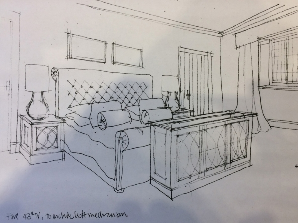 The Sketch provided by Nicola Hulbert BA Hons. Interior Design and Illustration