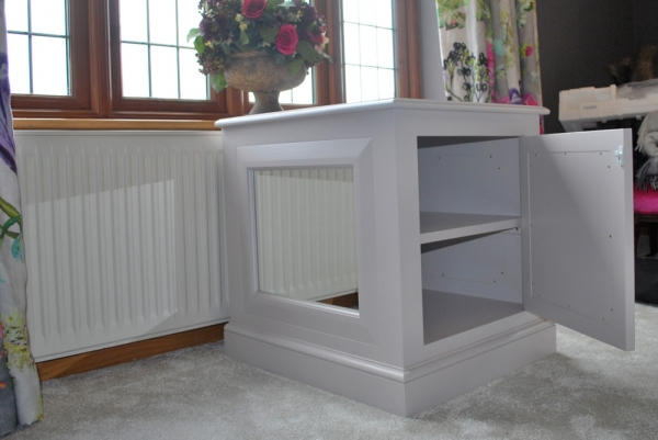 Painted Bedside Cabinet with Mirrored Panels