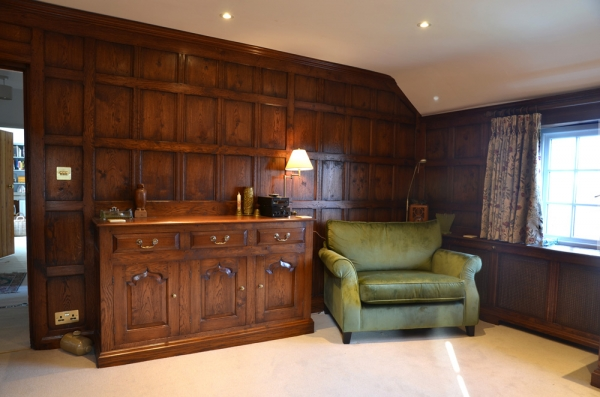 Fitted Oak Wall Panelling with Dresser