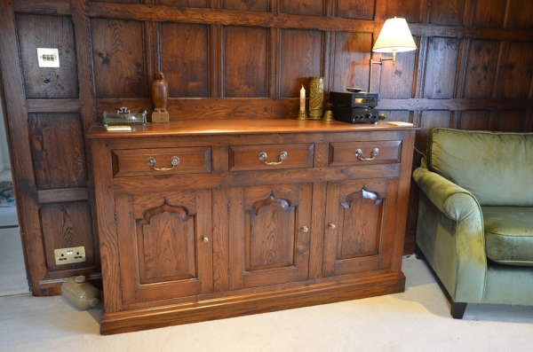 Solid Oak Dresser with Brass Fittings