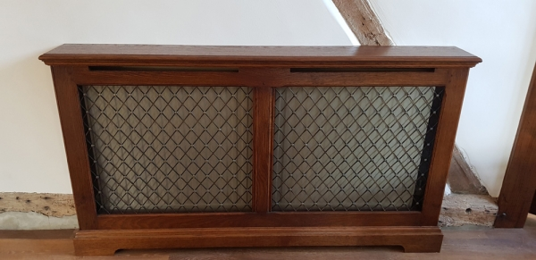 Solid Oak Radiator Covers with Brass Grilles