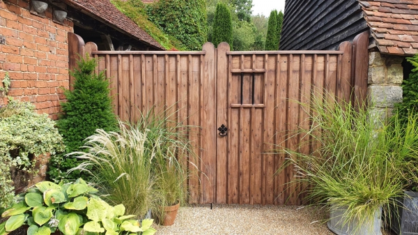 A magnificent pair of Hand crafted Oak Gates