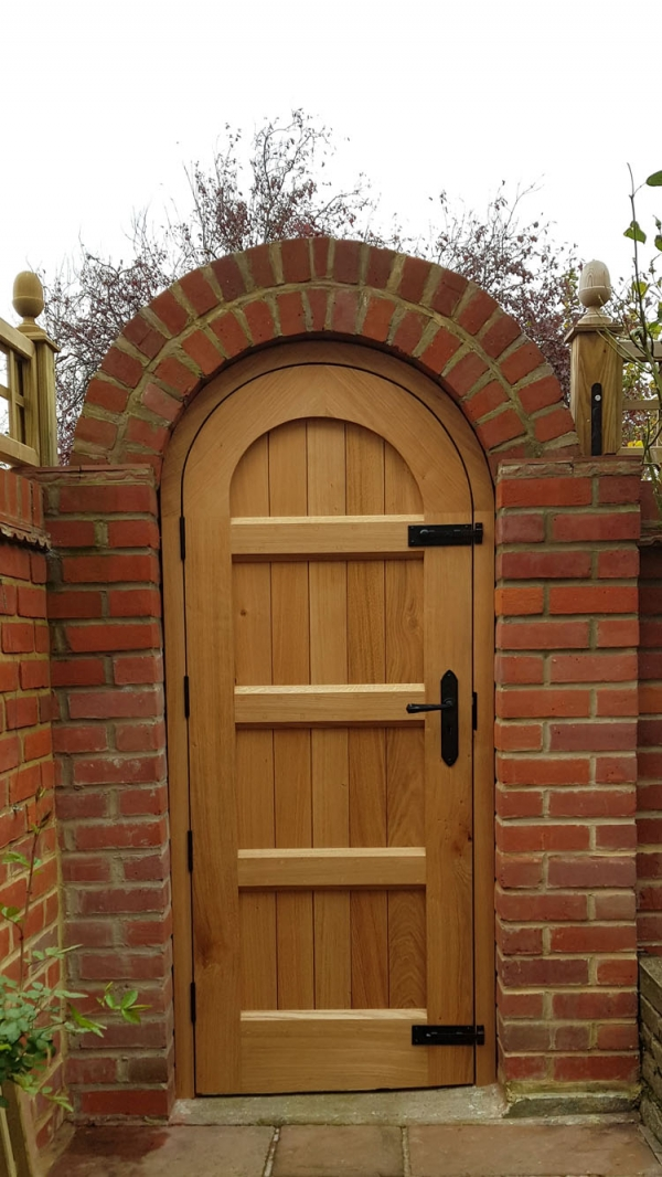 Solid Oak Garden Gate and Frame