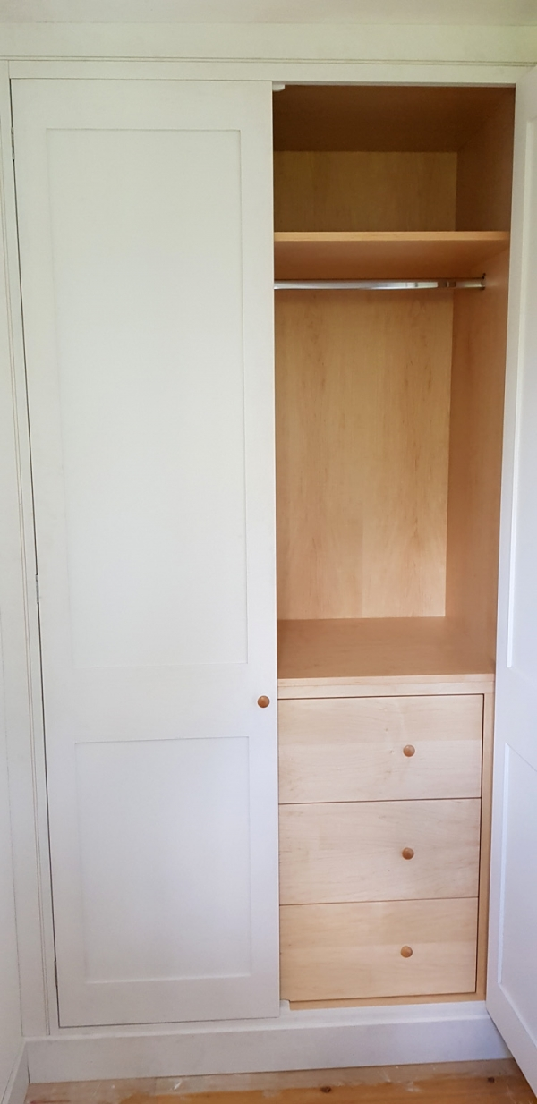 Hardwood Painted Wardrobe with Maple Interior