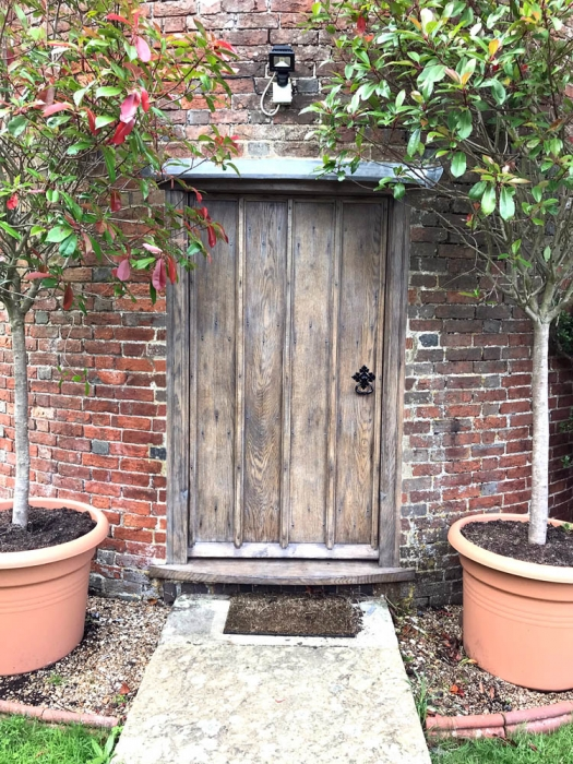 Bespoke Exterior Door in Solid Oak with Cover Mouldings and a Heavy Sectioned Frame