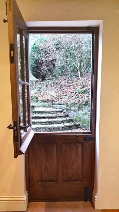 Exterior Half Glazed Stable door in Oak