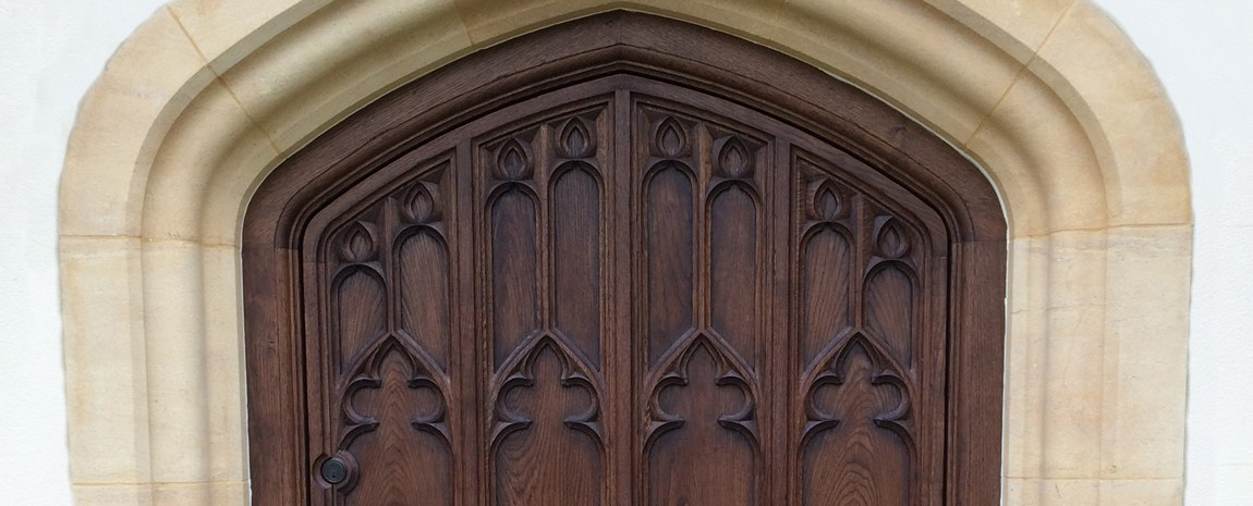 Gothic Door with Hand Carved Panels