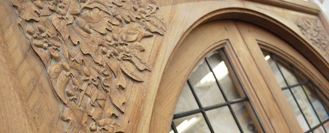 Bespoke Hand Carved Solid Oak Door Frame