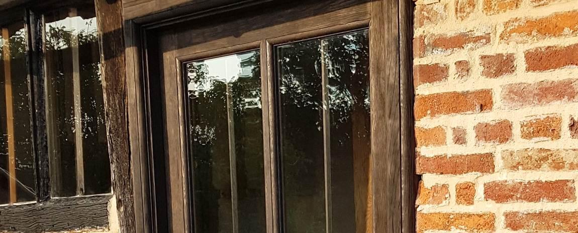 Solid Oak Framed Glazed Door