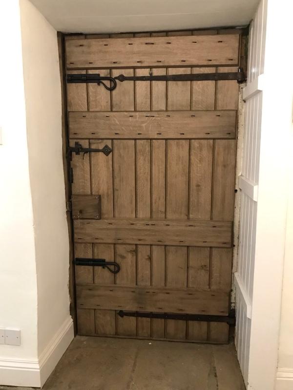 Internal view of the Replaced Door