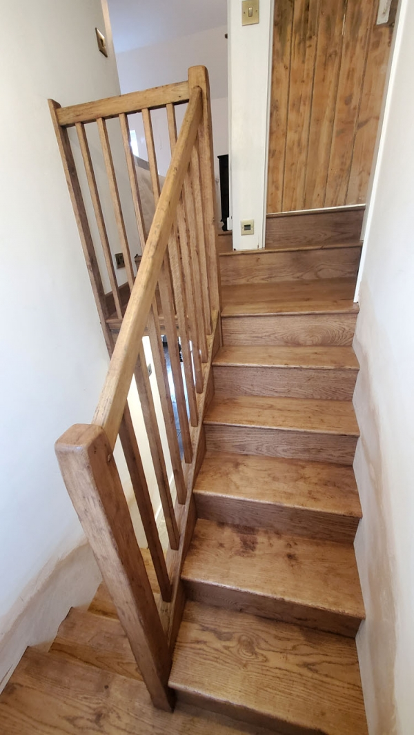 Oak Stairs incorporating original Handrail and Capping