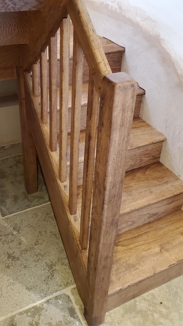 New Oak Stairs with original Handrail